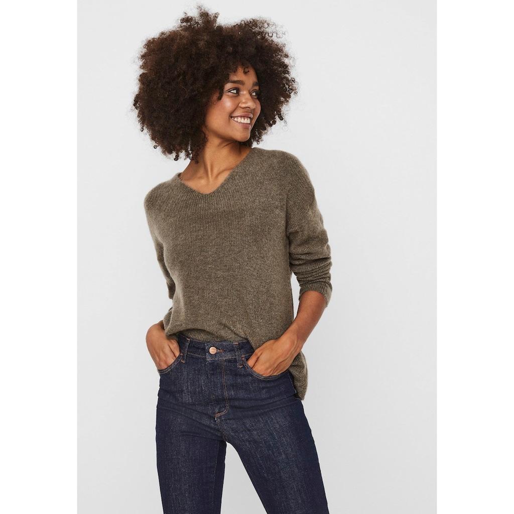Vero Moda V-Ausschnitt-Pullover »VMCREWLEFILE«