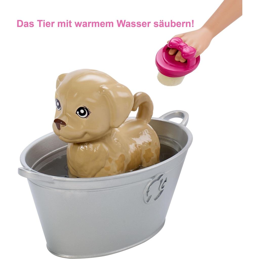 Barbie Anziehpuppe »Badespaß Spielset Tiere und Puppe«