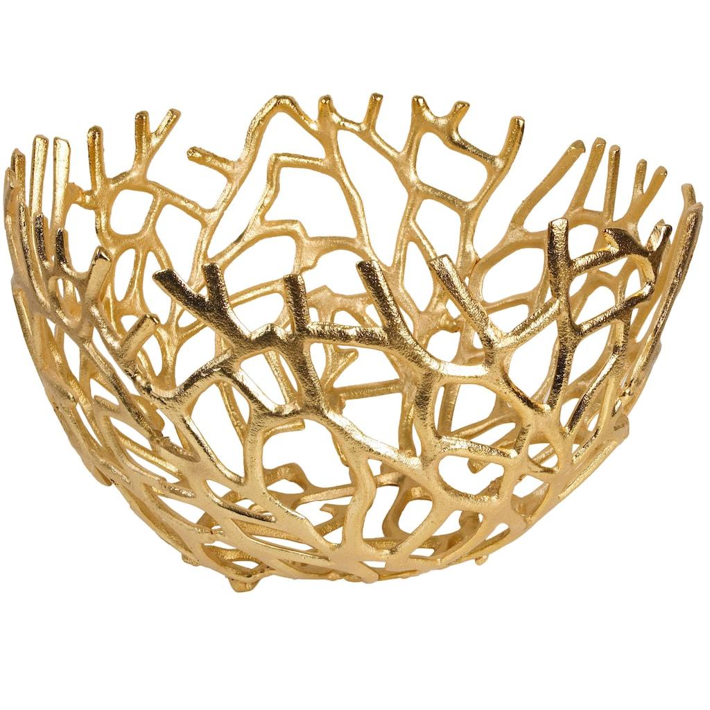 ARTRA Dekoschale »Aluminium Schale Elif in Gold Tischdekoration«
