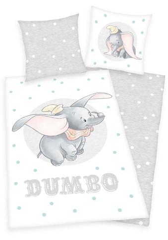 Walt Disney Kinderbettwäsche »Disney´s Dumbo«, mit Punkten und Elefantenmotiv kaufen