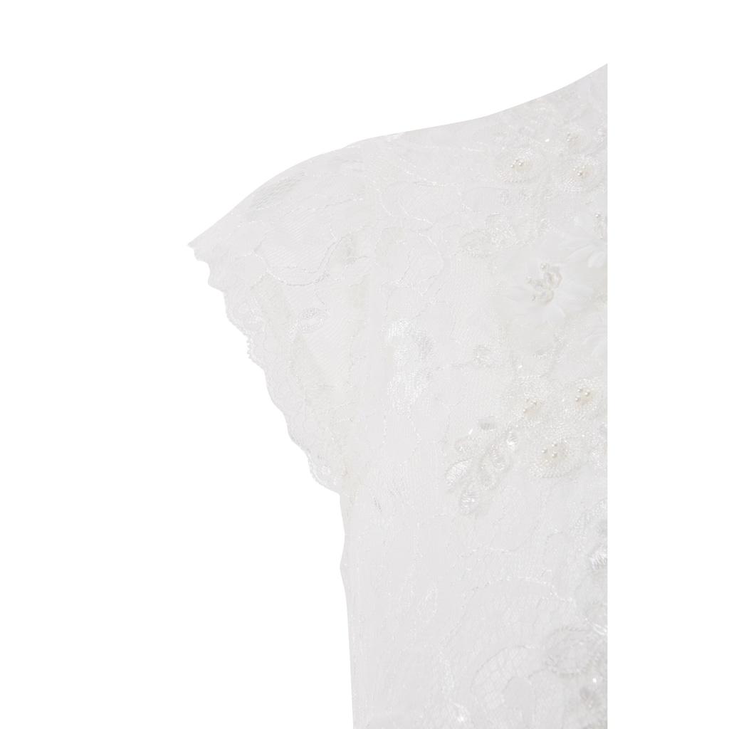 MarJo Dirndlbluse, mit Blütenapplikationen