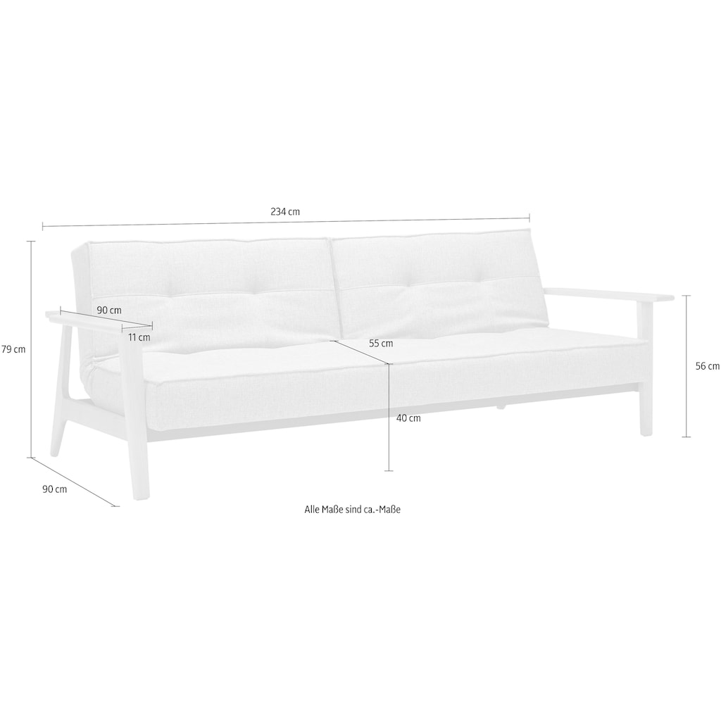 INNOVATION LIVING ™ Schlafsofa »Splitback Frej«, mit Armlehnen, in skandinavischem Design
