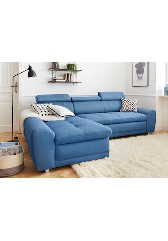 sit&more Ecksofa, inklusive Kopteilverstellung, wahlweise mit Bettfunktion kaufen