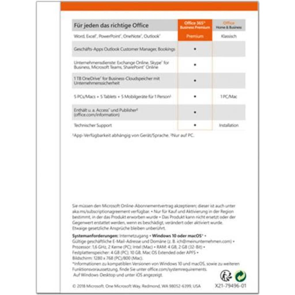 Microsoft Officeprogramm »Office 365 Business Premium«