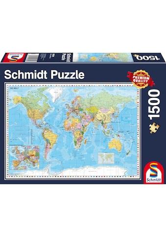 """Schmidt Spiele Puzzle """"Die Welt, 1500 Teile"""" kaufen"""