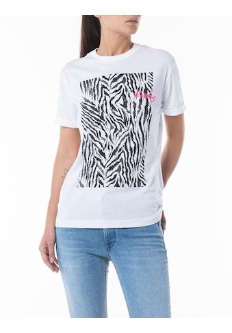 Replay T-Shirt, mit Neon-Markenschriftzug kaufen