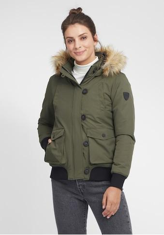 OXMO Winterjacke »Acila«, Wattierte Winterjacke mit Kapuze und abnehmbarem Kunstfellkragen kaufen
