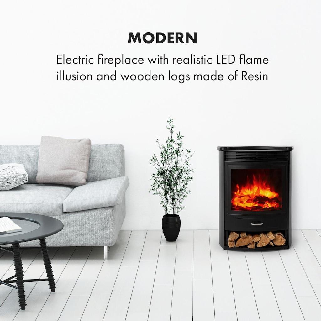 Klarstein Elektrischer Kamin 950/1900W Thermostat Woche »FP9-Bormio-S«