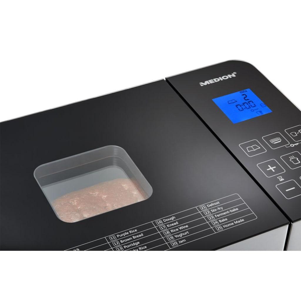 Medion® Brotbackautomat »MD 10241«, 25 Programme, 650 W, 25 Programme, Edelstahlgehäuse