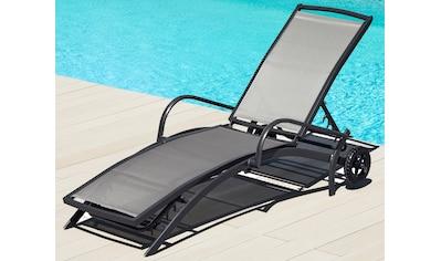 Good Merxx Gartenliege Amalfi Alutextil Anthrazit Kaufen With Rollliege Kunststoff Klappbar
