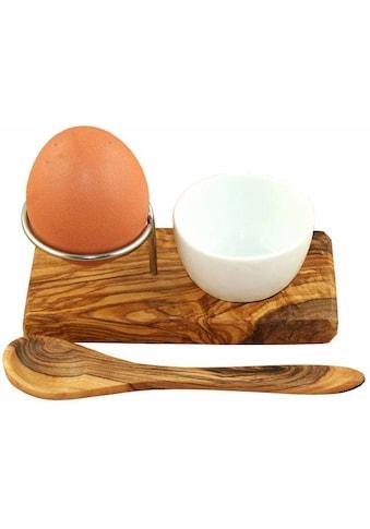 """Olivenholz - erleben Eierbecher """"Design Plus"""" (Eierbecher mit Eierlöffel) kaufen"""
