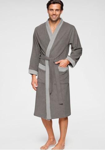 andas Unisex-Bademantel »Greta«, mit gestreiftem Kimonokragen kaufen
