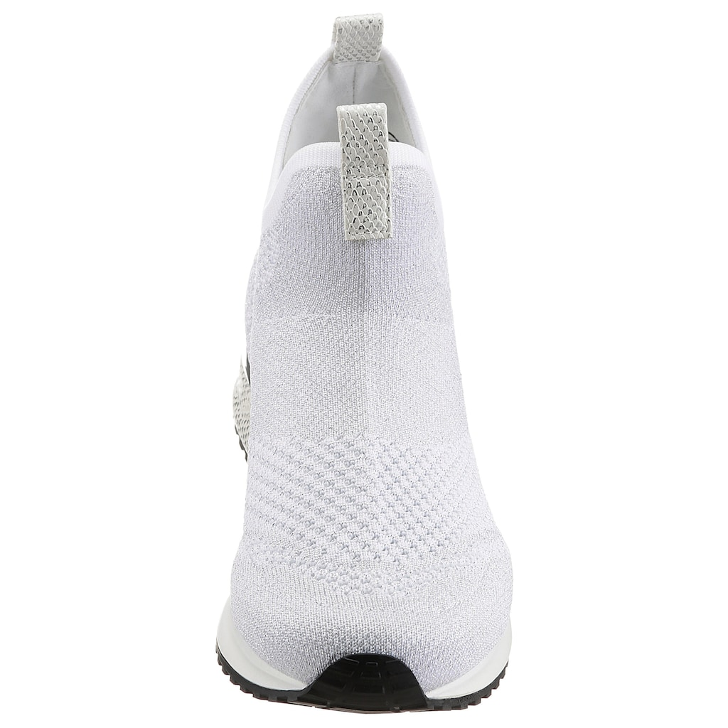 La Strada Slipper »Fashion Sneaker Slip On«, mit Metallicapplikation am Absatz