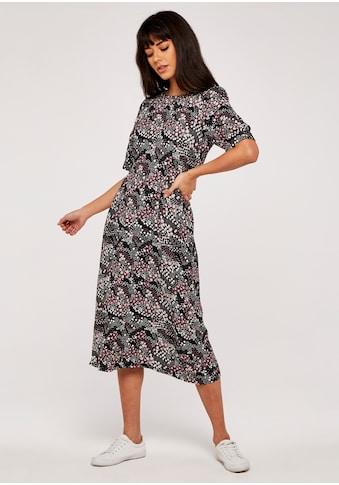 Apricot Druckkleid »Hydrangea Tie Waist Midi Dress«, mit Taillen-Bindeband kaufen