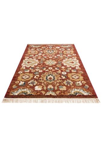 DELAVITA Teppich »Sorina«, rechteckig, 10 mm Höhe, mit Fransen, Wohnzimmer kaufen