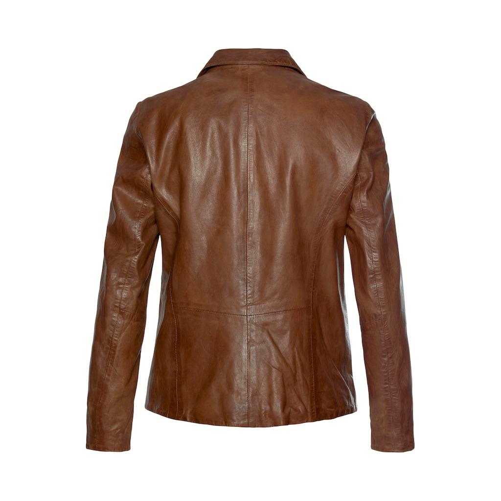 Gipsy Lederjacke »Mya«, im modischem Blazer-Stil mit Reverskragen