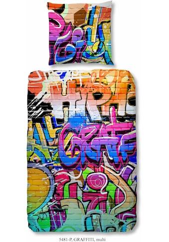 good morning Kinderbettwäsche »Graffiti«, im Graffitidesign kaufen