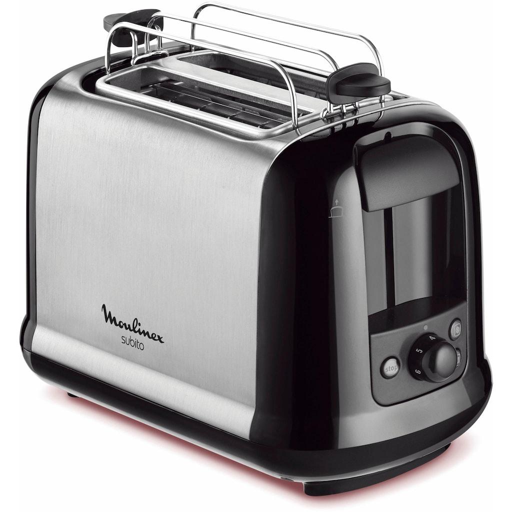 Moulinex Toaster »LT2618 Subito«, 2 kurze Schlitze, 850 W, Anhebevorrichtung, 7 Bräunungsstufen, Krümelschublade