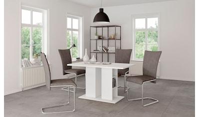 Homexperts Säulen-Esstisch »Mulan«, Breite 110 cm mit Regalfächern, in 3 Farben... kaufen