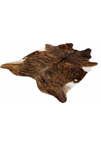 Böing Carpet Fellteppich »Fell Exot«, fellförmig, 4 mm Höhe, echtes Rinderfell, Naturprodukt daher ist jedes Rinderfell ein Einzelstück, Wohnzimmer kaufen