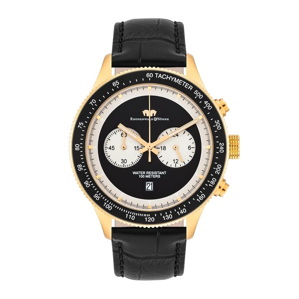 Rhodenwald & Söhne Chronograph »RWS025«, (1 tlg.), Armband aus Echtleder