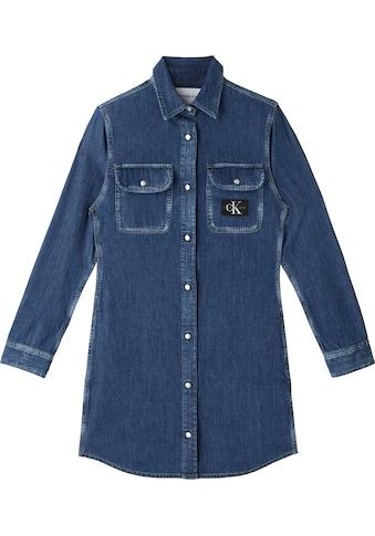 Calvin Klein Jeans Jeanskleid »RCHIVE RELAXED UTILITY DRESS«, mit CK Logo-Badge auf der Brusttasche kaufen