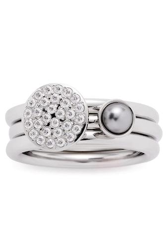 LEONARDO Ring-Set »Micca, 016961, 016962, 016963«, (Set, 2 tlg.), mit Zirkonia und imit. Perle kaufen