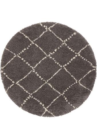 MINT RUGS Hochflor-Teppich »Hash«, rund, 35 mm Höhe, Scandi Look, Wohnzimmer kaufen