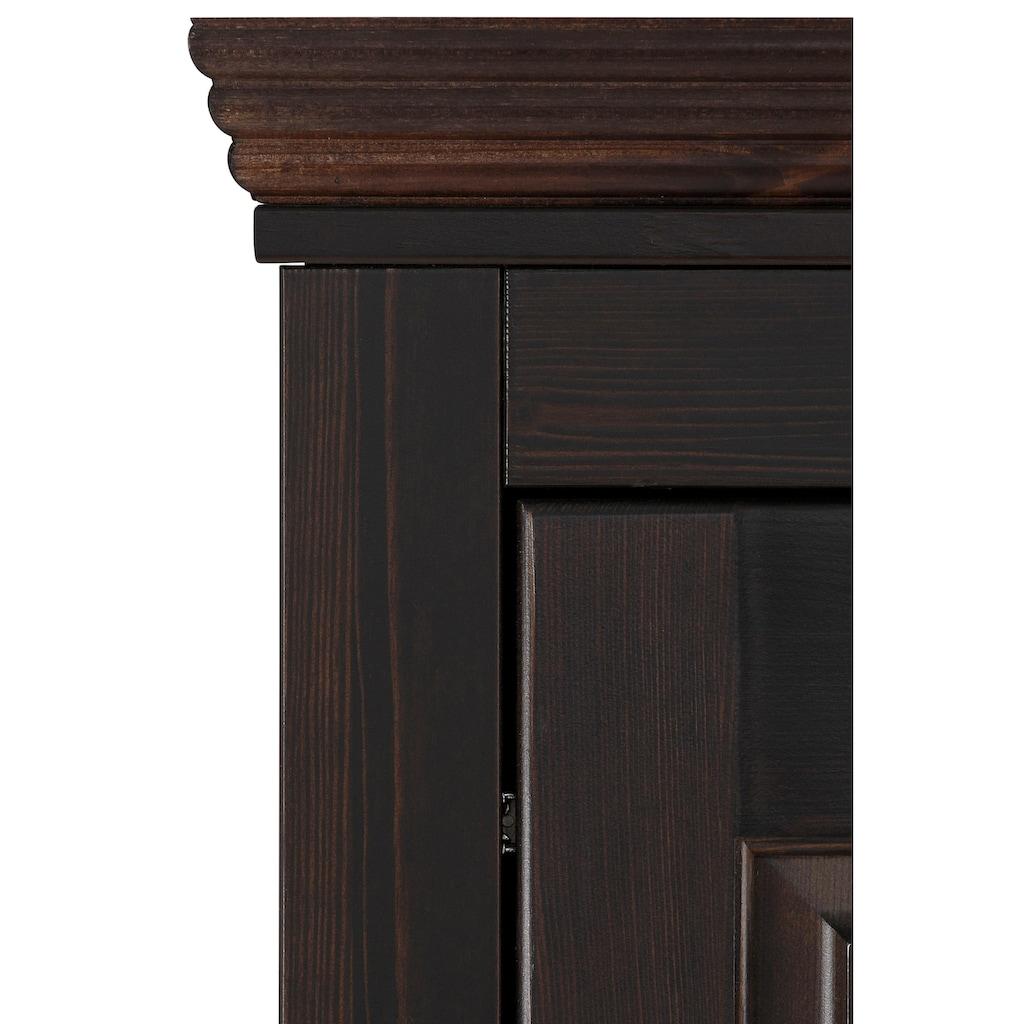 Home affaire Kleiderschrank »Rauna«, aus massiver Kiefer, 214cm hoch