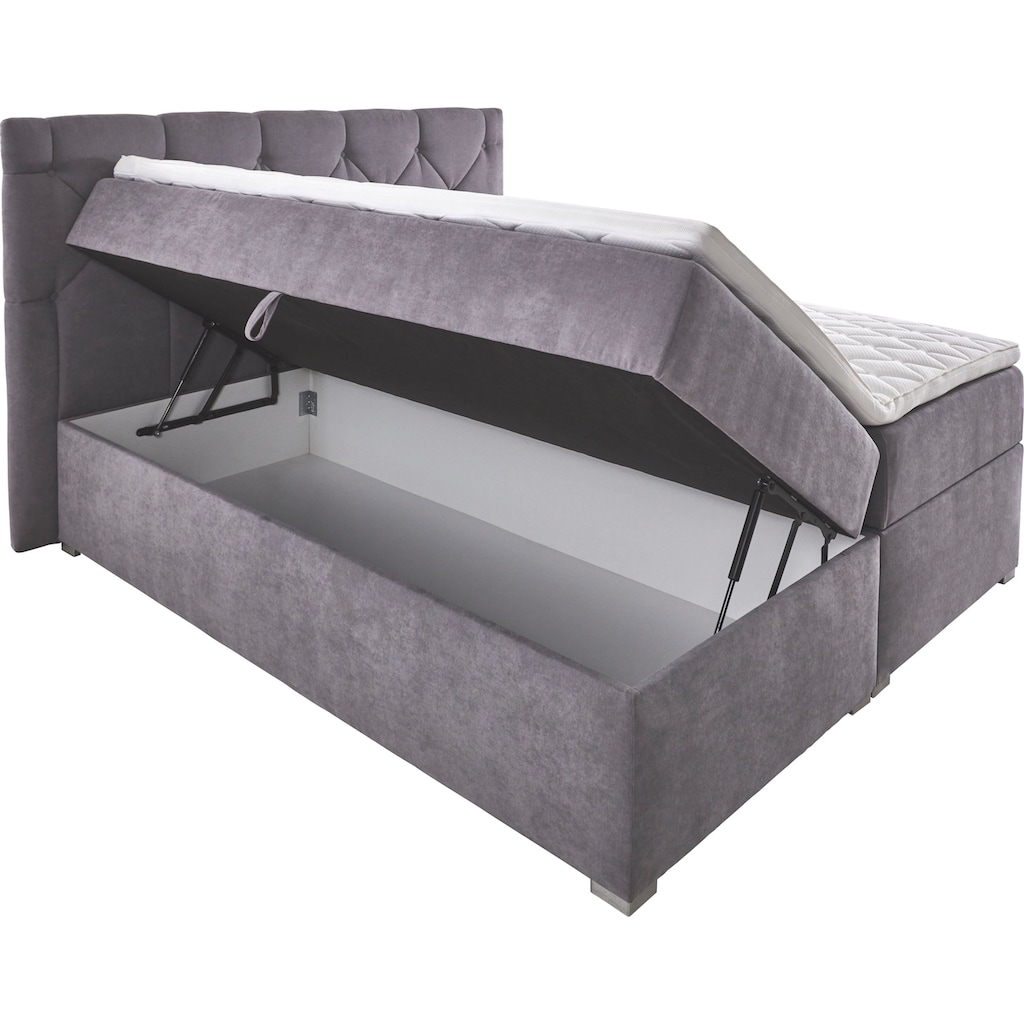 ATLANTIC home collection Boxbett, mit XXL-Bettkasten und Topper
