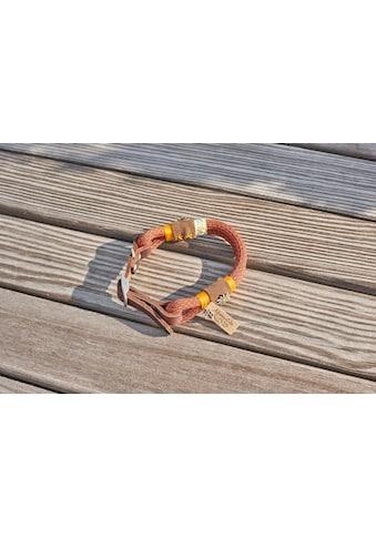 Alpenpfote Hunde-Halsband, Textil-Echtleder, mit drei Stufen verstellbar - Made in Germany kaufen