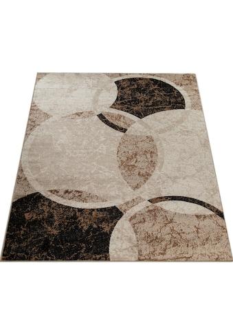 Paco Home Teppich »Sinai 055«, rechteckig, 9 mm Höhe, Kurzflor mit Kreis Muster,... kaufen