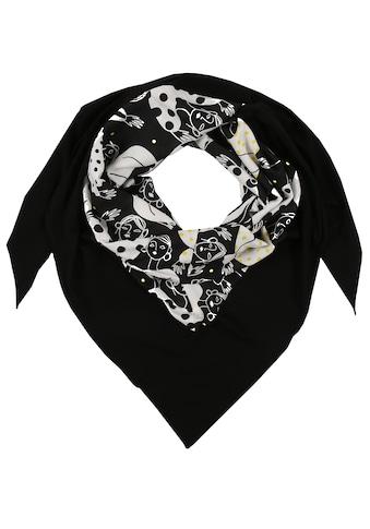 Doris Streich Dreieckstuch »mit Allover-Muster«, und breitem Saum kaufen