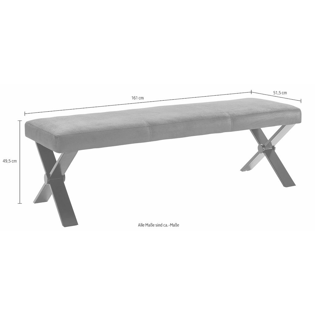 Homexperts Sitzbank »Colt«, Breite 140 oder 160 cm, Microfaserbezug in Vintage-Optik