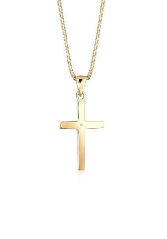 Diamore Collierkettchen »Kreuz Glaube Diamant (0.005 ct) Basic 925 Silber« kaufen