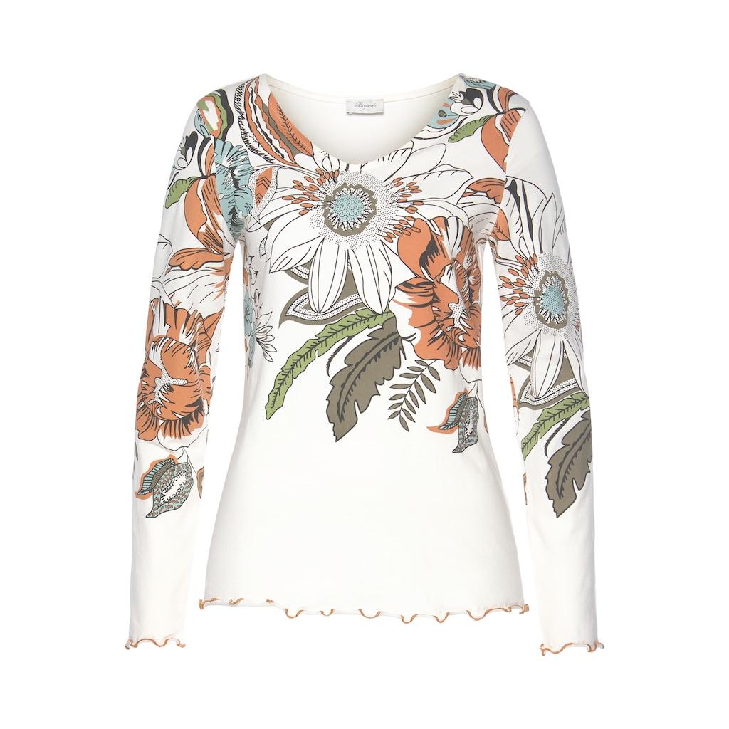 Boysen's Langarmshirt, Mit großem Blumendruck