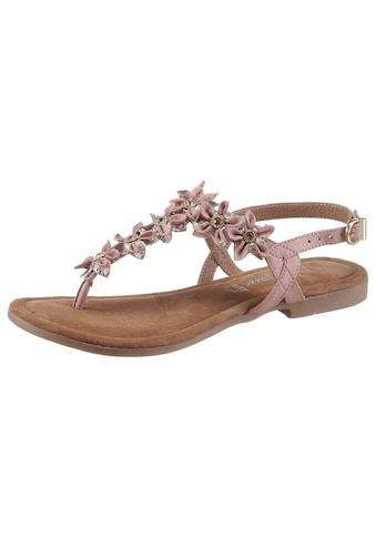 MARCO TOZZI Sandale, mit aufwendiger Blütenverzierung kaufen