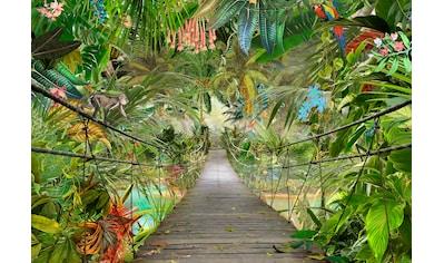 Komar Fototapete »Wild Bridge«, bedruckt-Wald-geblümt, ausgezeichnet lichtbeständig kaufen