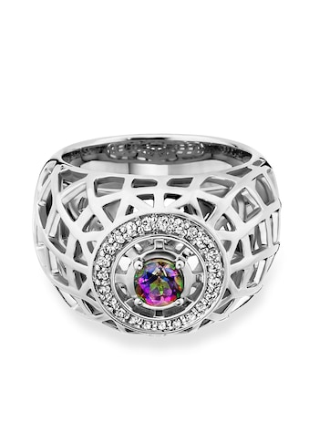CAÏ Fingerring »925/- Sterling Silber rhodiniert Topas mystic Gitt«, Ring kaufen