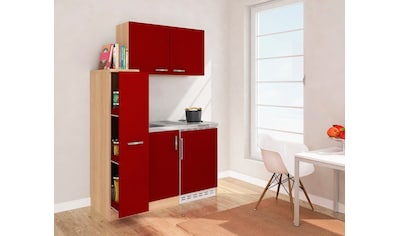 RESPEKTA Küchenzeile, mit Duo-Kochplattenmulde und Kühlschrank, Breite 130 cm kaufen