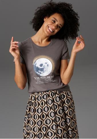 Aniston CASUAL T-Shirt, Frontdruck mit Glitzer und Statement-Schriftzug - NEUE KOLLEKTION kaufen