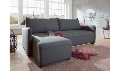 ATLANTIC home collection Ecksofa, mit Federkern, Bettfunktion, Bettkasten und beidseitig montierbarer Recamiere kaufen
