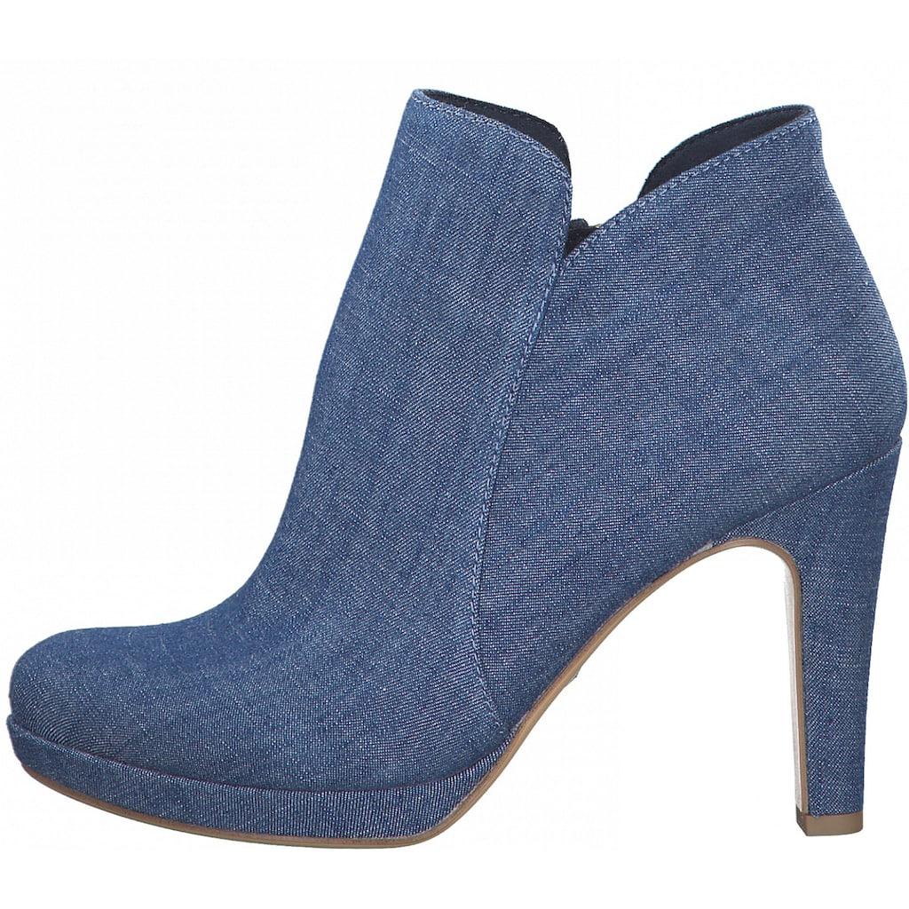 Tamaris High-Heel-Stiefelette, im coolen Jeans-Look