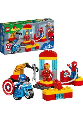 """LEGO® Konstruktionsspielsteine """"Iron Mans Labor - Treffpunkt (10921), LEGO® DUPLO® Marvel"""", Kunststoff, (30 - tlg.) kaufen"""