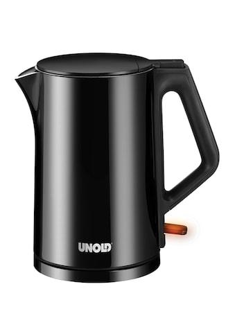 Unold Wasserkocher »Blitzkocher Design Black«, 2200 W, Edelstahl, 1,4 Liter, schwarz,... kaufen
