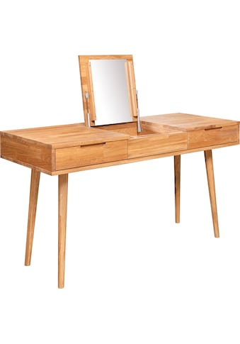 andas Schminktisch »Scandi«, aus massivem Eichenholz, mit aufklappbarem Spiegel, Breite 140 cm kaufen