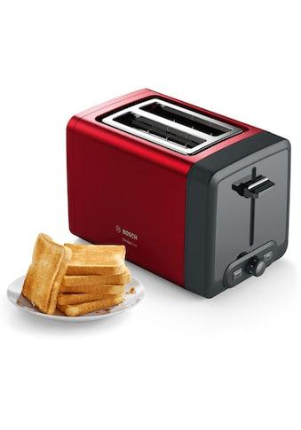 BOSCH Toaster »TAT4P424 DesignLine«, 2 kurze Schlitze, 970 W kaufen