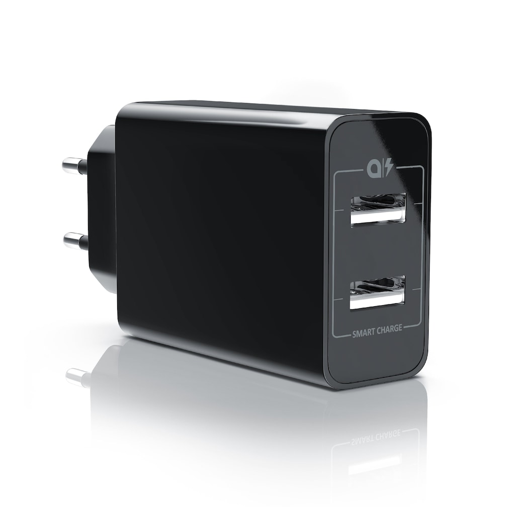 Aplic 2 Port USB Ladegerät mit Smart Charge + Solid Charge