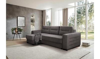 Home affaire Ecksofa »Picardie«, auch mit Schlaffunktion, Bettfunktion und 2 Bettkasten kaufen