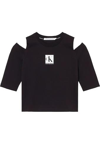 Calvin Klein Jeans T-Shirt »COLD SHOULDERS BOX LOGO TEE«, mit Cut-outs an den... kaufen